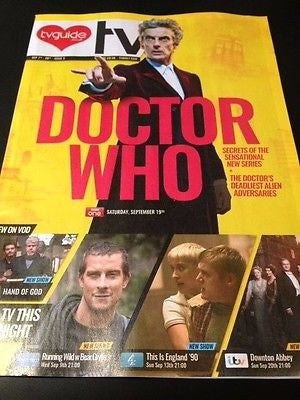 (UK) TV DAILY MAGAZINE SEPT 2015 PETER CAPALDI DR DOCTOR WHO DOWNTON ABBEY