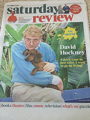 (UK) TIMES REVIEW SEPT 2016 DAVID HOCKNEY PHOTO COVER INTERVIEW