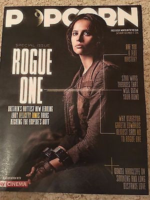 Rogue One FELICITY JONES Photo Interview UK Popcorn Magazine December 2016 NEW