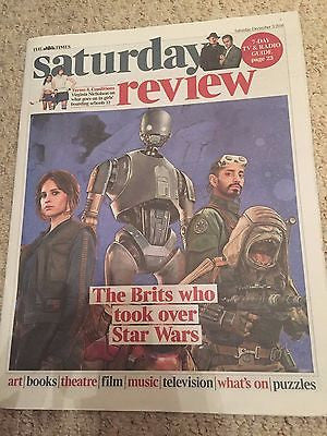 STAR WARS - ROGUE ONE - RIZ AHMED - FELICITY JONES UK PHOTO COVER - DEC 2016