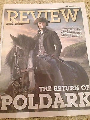 (UK) EXPRESS REVIEW AUGUST 2016 AIDAN TURNER Poldark PHOTO COVER SPECIAL