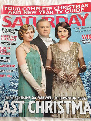 Saturday Magazine Dec 2015 Michelle Dockery Downton Abbey Midge Ure Tom Chambers
