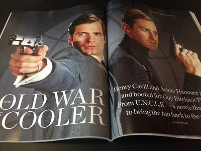 Man from U.N.C.L.E HENRY CAVILL ARMIE HAMMER PHOTO UK MOVIE MAGAZINE JULY 2015