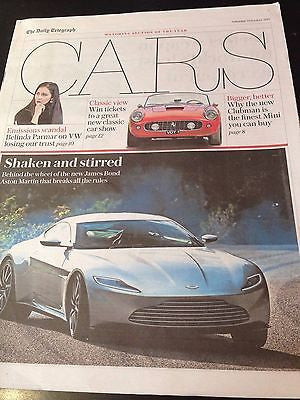 James Bond 007 Aston Martin UK Cars Supplement Cover 3 October 2015 New
