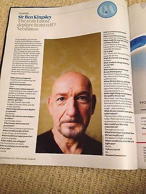 ** BEN KINGSLEY interview ATATURK ELIF SHAFAK UK ISSUE 2013 BRAND NEW ***