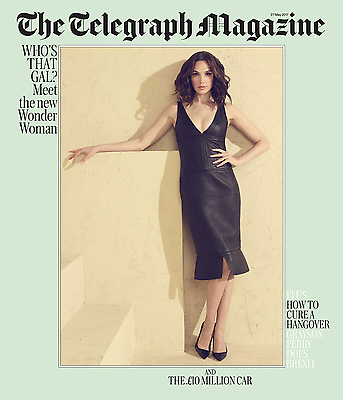 TELEGRAPH MAGAZINE MAY 2017 WONDER WOMAN GAL GADOT (Defective Copy)
