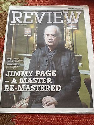 Led Zeppelin JIMMY PAGE PHOTO COVER INTERVIEW on ROBERT PLANT FEBRUARY 2015