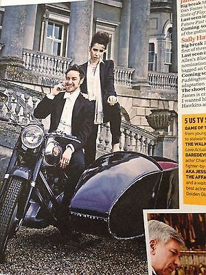 BENEDICT CUMBERBATCH Tom Hiddleston MICHELLE DOCKERY UK EVENT MAGAZINE MAY 2015