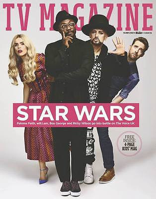 SUN TV Magazine January 2016 BOY GEORGE Ricky Wilson DERREN BROWN Will.i.am