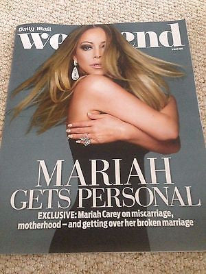 (UK) WEEKEND MAGAZINE 2015 MARIAH CAREY MATT DILLON JULIETTE LEWIS MARC WARREN