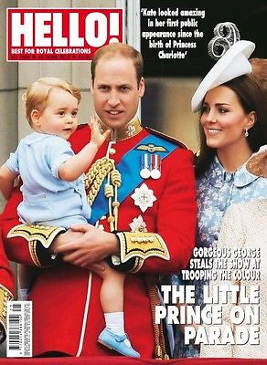 HELLO! Magazine 1384 22 June 2015 PRINCE GEORGE WILLIAM KATE MIDDLETON PHOTO