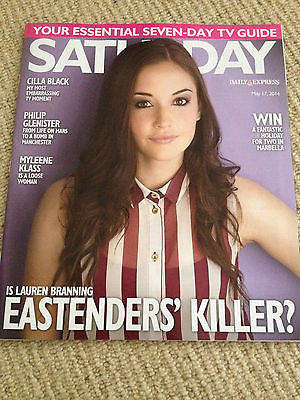 UK Saturday Mag May 2014 Jacqueline Jossa Philip Glenister Cilla Black Iain Glen