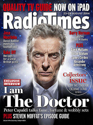 Doctor Who PETER CAPALDI PHOTO COVER RADIO TIMES MAGAZINE 23 AUGUST 2014 NEW