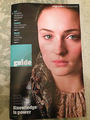 Guide Magazine April 2016 Sophie Turner Game of Thrones King Robert Mapplethorpe