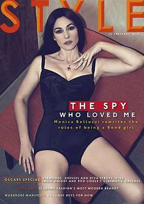 James Bond MONICA BELLUCCI PHOTO INTERVIEW STYLE MAGAZINE FEBRUARY 22 2015