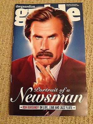 WILL FERRELL interview ANCHORMAN 2 UK ISSUE 2013 BRAND NEW ALICE ENGLERT ***