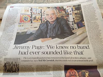 JIMMY PAGE interview LED ZEPPELIN UK 1 DAY ISSUE MAY 2014