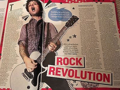 Green Day BILLIE JOE ARMSTRONG PHOTO INTERVIEW UK MAGAZINE 2016 LAURA CARMICHAEL