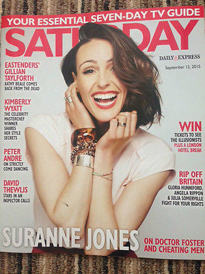 SATURDAY MAGAZINE 2015 SURANNE JONES DAVID THEWLIS JOHN LYONS GILLIAN TAYLFORTH