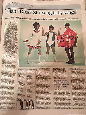 MARTHA REEVES interview DIANA ROSS supremes UK 1 DAY ISSUE 12/2016
