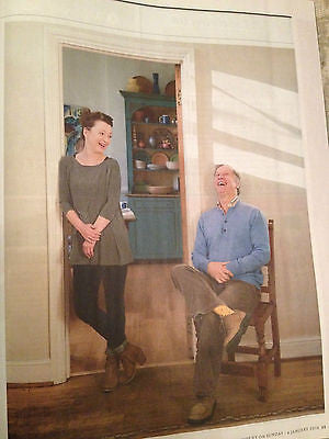 LESLEY MANVILLE & PETER DUNCAN BLUE PETER PHOTO INTERVIEW MAGAZINE JANUARY 2015