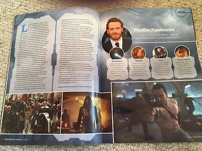 ESCAPE MAGAZINE NOVEMBER 2016 ASSASSIN'S CREED MICHAEL FASSBENDER CHRIS PRATT