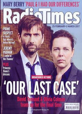 UK Radio Times Magazine February 2017 David Tennant Olivia Colman Linda Gray