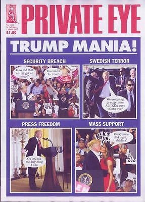 Private Eye Magazine February 2017 - Donald Trump - Trump Mania