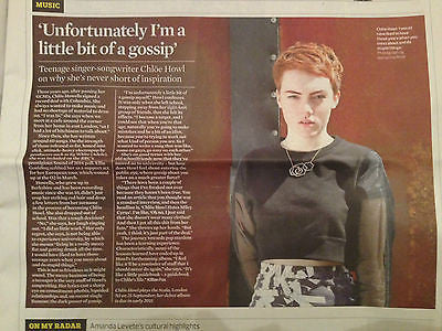 OBSERVER NEW REVIEW AUG 2014 JOHN NAUGHTON CHLOE HOWL KATE BUSH ST VINCENT