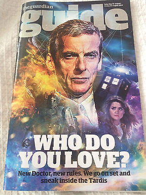 Guardian Guide Magazine August 2014 Peter Capaldi Inside Doctor Who Luc Besson