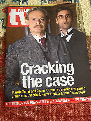 WE LOVE TV FEB 2015 MARTIN CLUNES CONAN DOYLE STEPHEN TOMPKINSON RUSSELL TOVEY