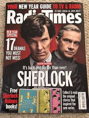 UK RADIO TIMES Magazine 31 Dec 2016 SHERLOCK Benedict Cumberbatch interview