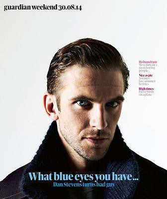 Downton Abbey DAN STEVENS PHOTO COVER INTERVIEW GUARDIAN WEEKEND AUGUST 2014 NEW