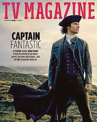 (UK) TV MAGAZINE SEPTEMBER 2016 AIDAN TURNER Poldark Hunk PHOTO COVER INTERVIEW