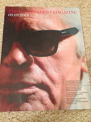 UK INDEPENDENT MAGAZINE - KARL LAGERFELD - AMANDA HOLDEN - MAY 9 2015