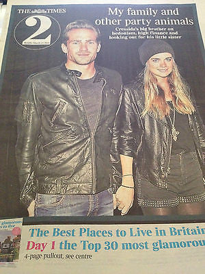 Times 2 March 2014 - Cressida Bonas Prince Harry Rufus Hound Michael Fassbender