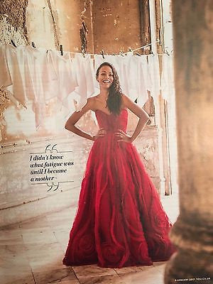 Zoe Saldana Photo Cover interview UK You MAGAZINE January 2017 SONOYA MIZUNO