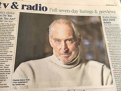 UK Times Review July 1 2017 Aidan Turner Charles Dance