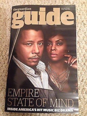 Empire TERRENCE HOWARD TARAJI P HENSON PHOTO INTERVIEW (UK) GUIDE MAGAZINE 2015