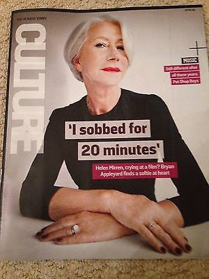 CULTURE MAGAZINE MARCH 2016 HELEN MIRREN PET SHOP BOYS NEIL TENNANT