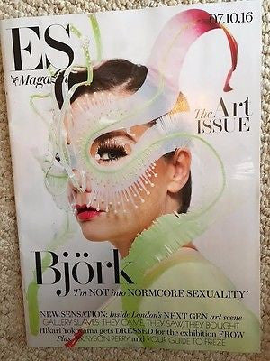 (UK) ES MAGAZINE OCTOBER 2016 BJORK PHOTO COVER INTERVIEW