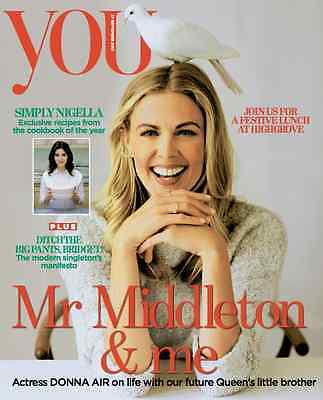 YOU MAGAZINE SEPTEMBER 2015 DONNA AIR PHOTO COVER KATE MIDDLETON NIGELLA LAWSON