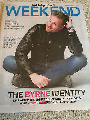 Westlife NICKY BYRNE PHOTO INTERVIEW IRISH WEEKEND MAGAZINE AUGUST 2015
