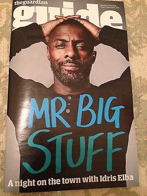 Luther IDRIS ELBA PHOTO COVER INTERVIEW UK GUIDE MAGAZINE December 2015 NEW