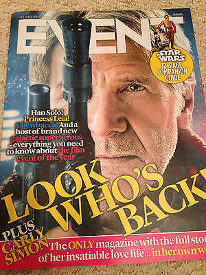 STAR WARS THE FORCE AWAKENS PHOTO COVER EVENT MAGAZINE - 29 NOVEMBER 2015 - NEW