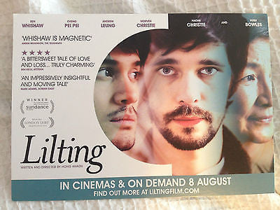 BEN WHISHAW ANDREW LEUNG LILTING UK Film Promo POSTCARD x2