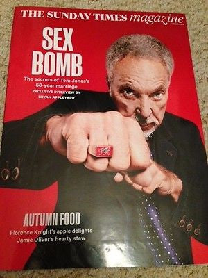(UK) SUNDAY TIMES MAGAZINE OCTOBER 2015 SIR TOM JONES IAN FLEMING JAMES BOND