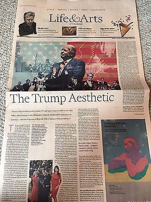 DONALD TRUMP - THE TRUMP AESTHETIC - UK FT LIFE & ARTS SUPPLEMENT - 15 JAN 2017