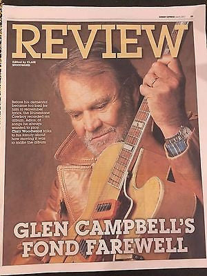 Glen Campbell - Fond Farewell June 2017 Photo Cover Interview Uk Express Review