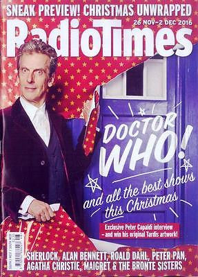 RADIO TIMES magazine Nov 26 2016 Peter Capaldi - Doctor Who Exclusive Interview